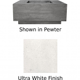 Prism Hardscapes Tavola 7 Fire Table in Ultra White - NG