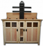 Bungalow Full Size Lift Cabinet - Unfinished Oak