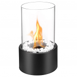 Regal Flame ET7001BLK Eden Ventless Tabletop Bio Ethanol Fireplace in Black