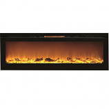 Regal Flame LW2072WL Gotham 72in Wall Mounted Electric Fireplace - Log