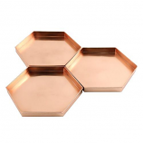 Achla TRY-H9 9-in Hexagonal Tray Set of 3