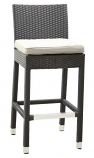 Wicker Barstool (Set of 2) - Black