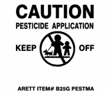 Pesticide Flags with Plastic Stakes Model B25G PESTMA