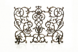 FS-V-BR Cast Iron Grapevine-Designed Fireplace Screen, Bronze Finish