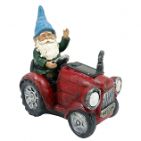 Alpine WQA1378SLR-RD Solar Red Tractor Riding Gnome with LED