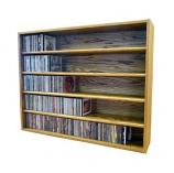 Solid Oak Tower for CD's (Ind. Locking Slots)- Honey Oak Model 503-3