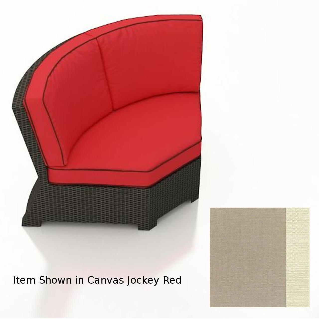 Forever Patio Barbados 45 Deg Corner Chair - Ebony/Canvas Taupe/Linen