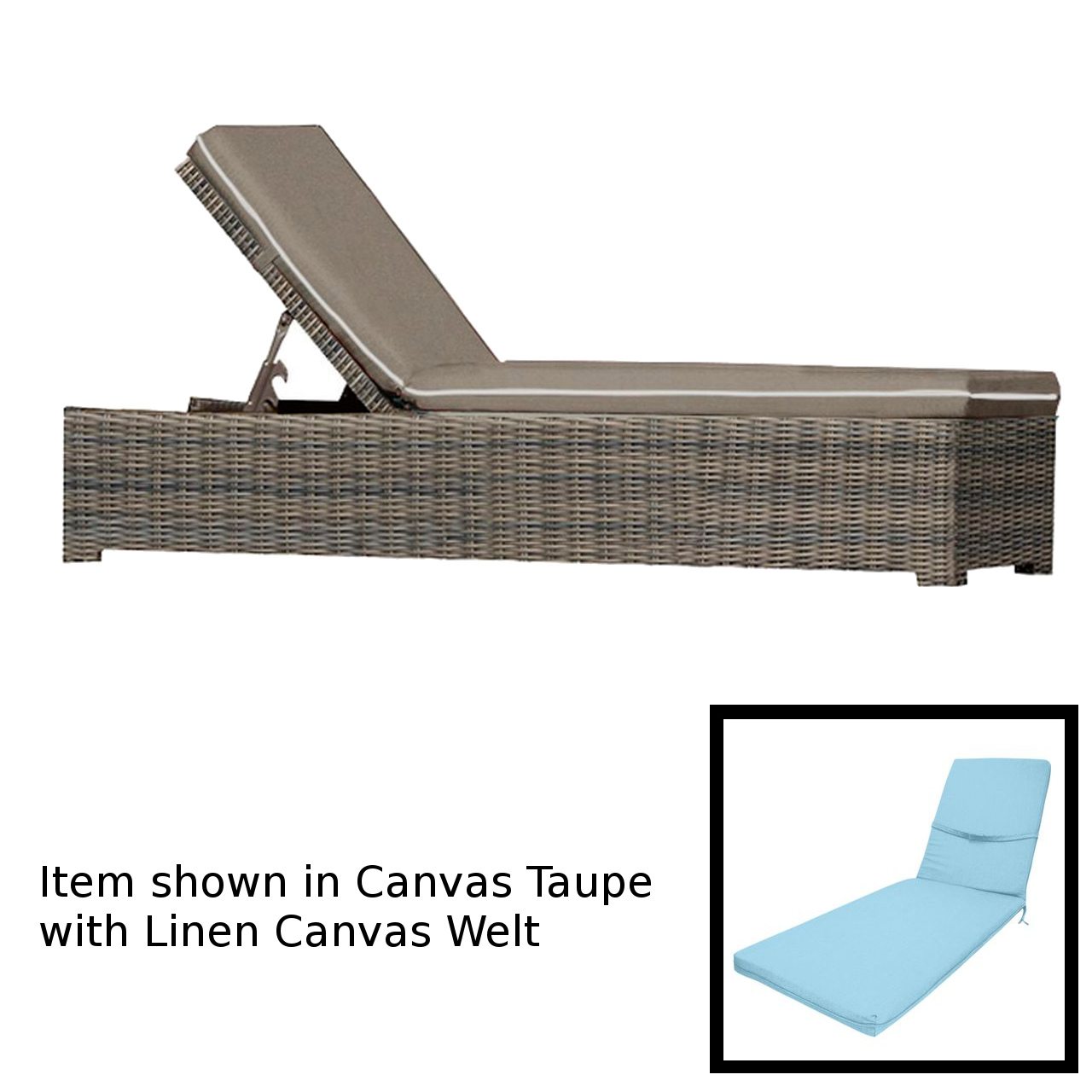 Forever Patio Universal Chaise Lounge - Heather Thick/Cast Horizon