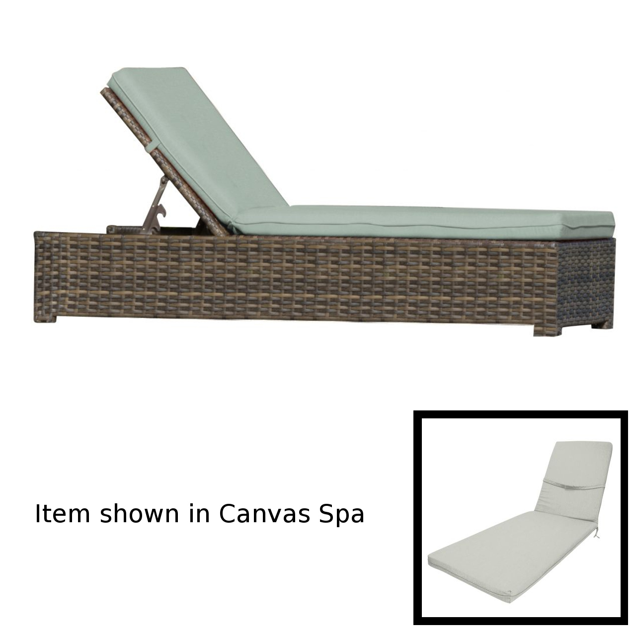 Forever Patio Universal Chaise Lounge - Rye/Canvas Granite