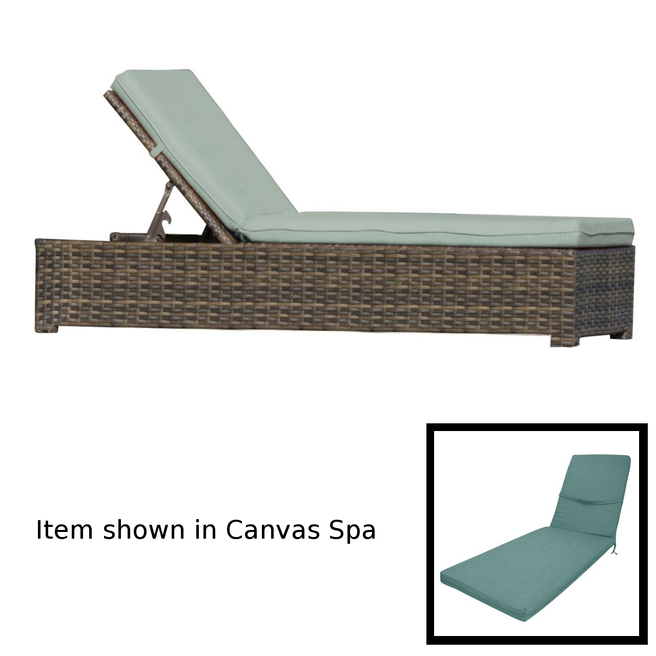 Forever Patio Universal Chaise Lounge - Rye/Cast Breeze