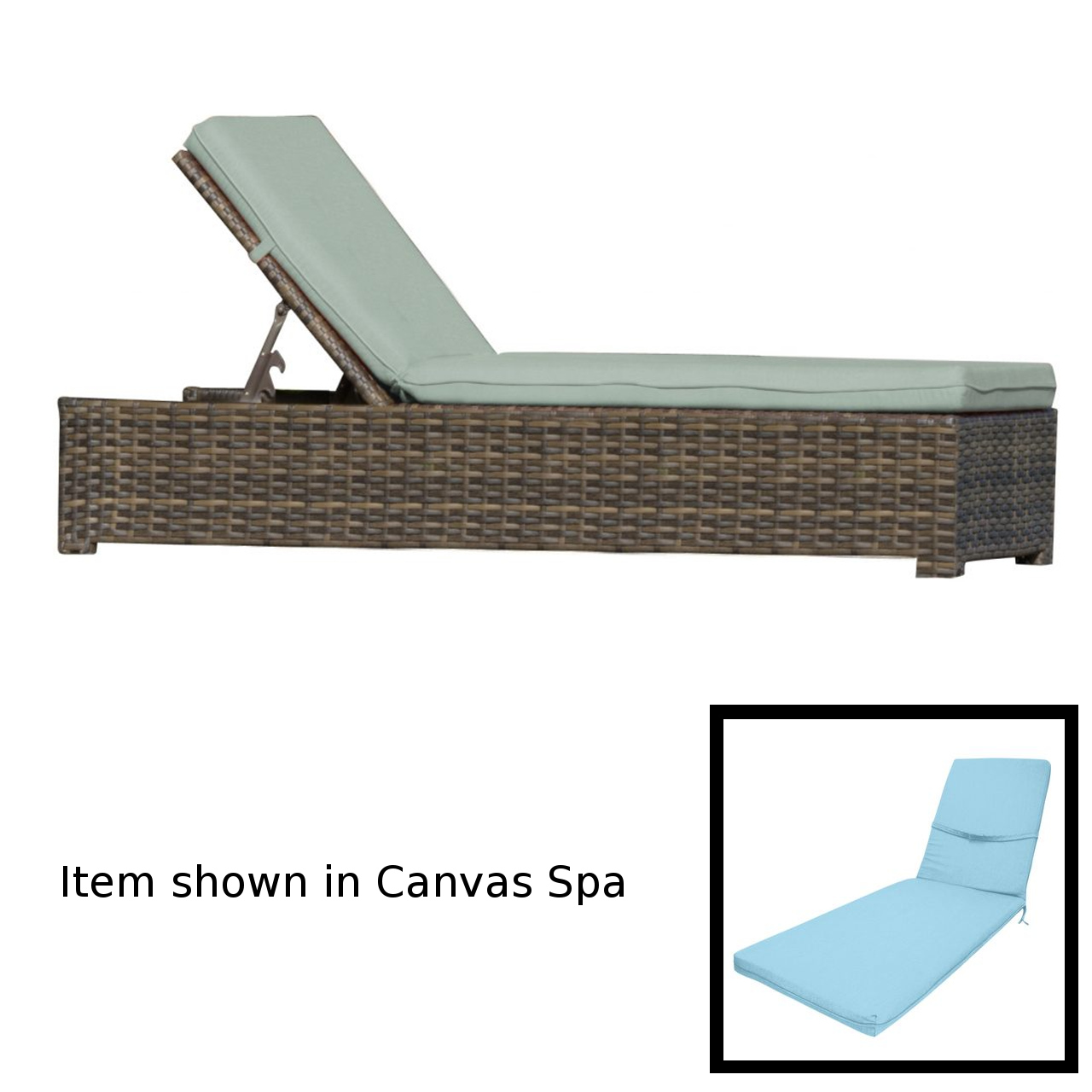 Forever Patio Universal Chaise Lounge - Rye/Cast Horizon