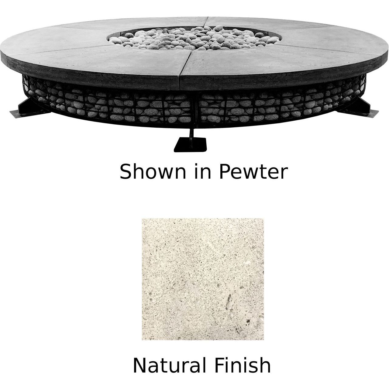 Prism Hardscapes Fuego 8' Concrete Gas Fire Pit in Natural - NG