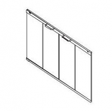 36 Stainless on Bronze Tinted Glass Panel for Electric Fireplace