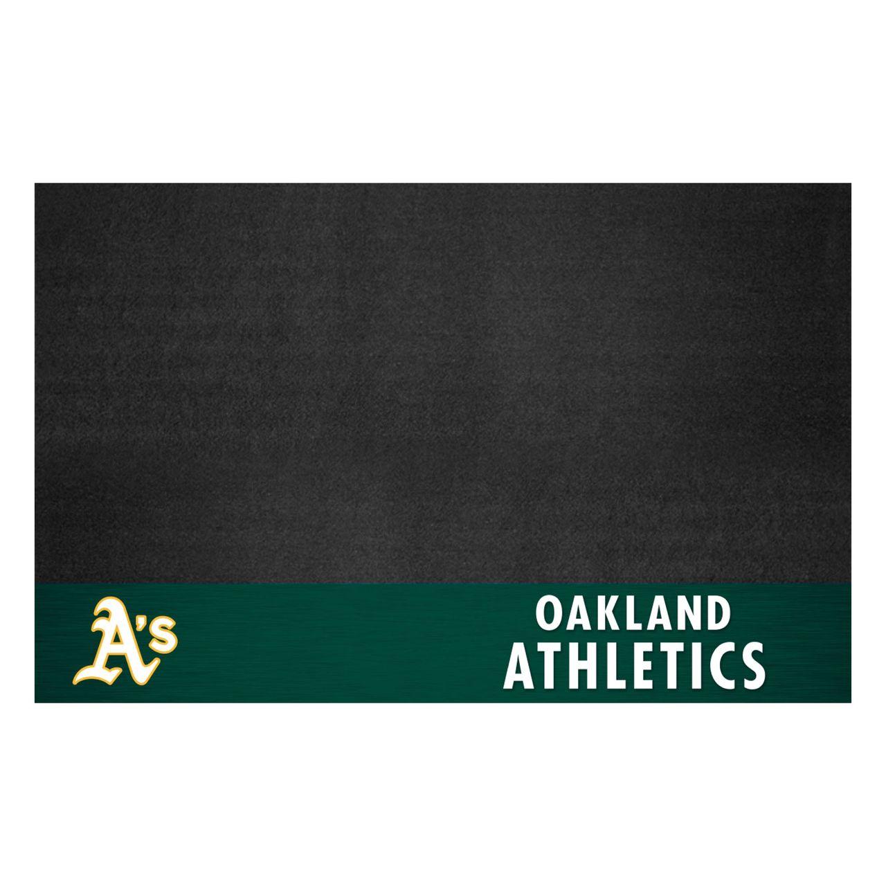 "Fanmats 12163 MLB - Oakland Athletics Grill Mat 26""x42"""