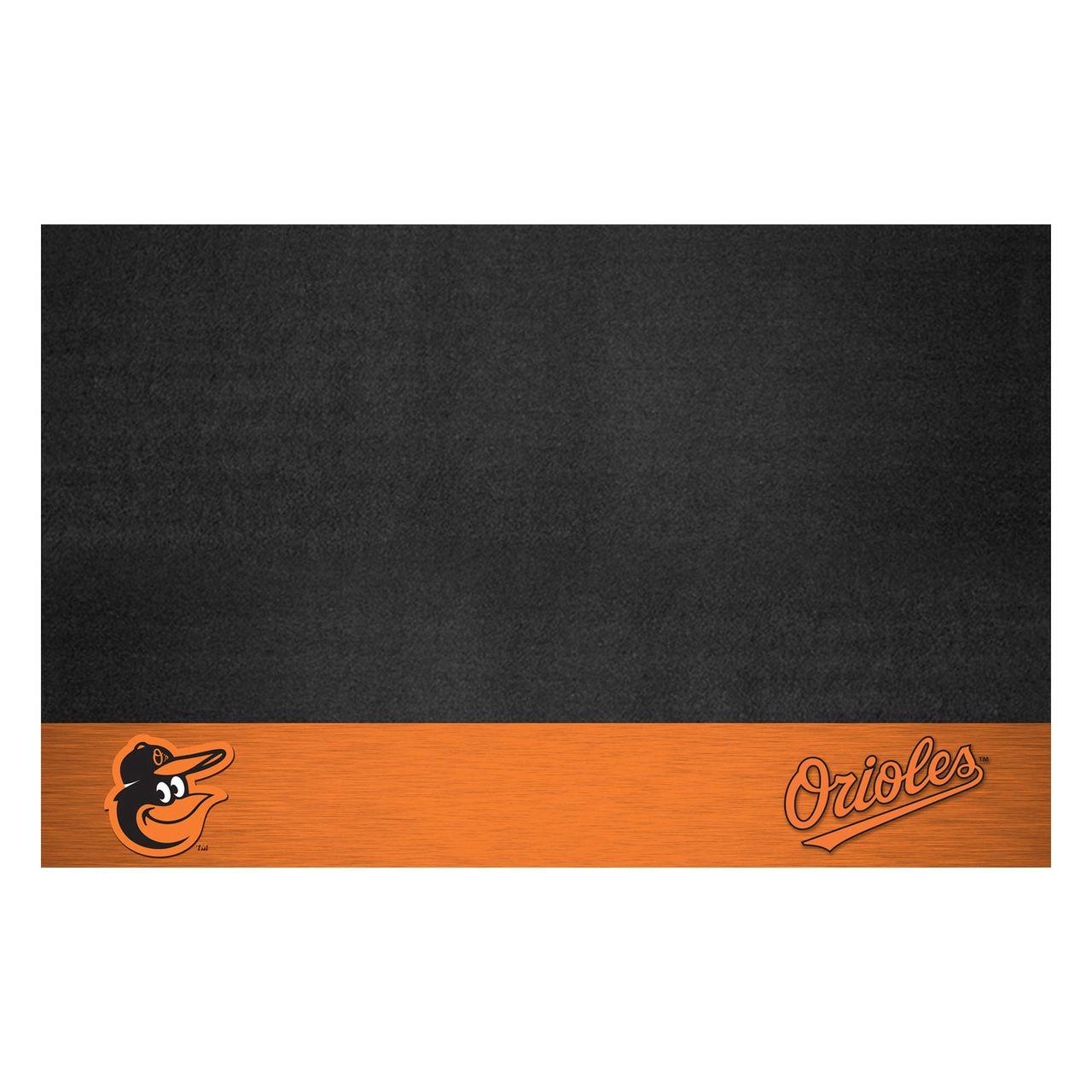 """Fanmats 15177 MLB - Baltimore Orioles Cartoon Bird Grill Mat 26""""x42"""""""