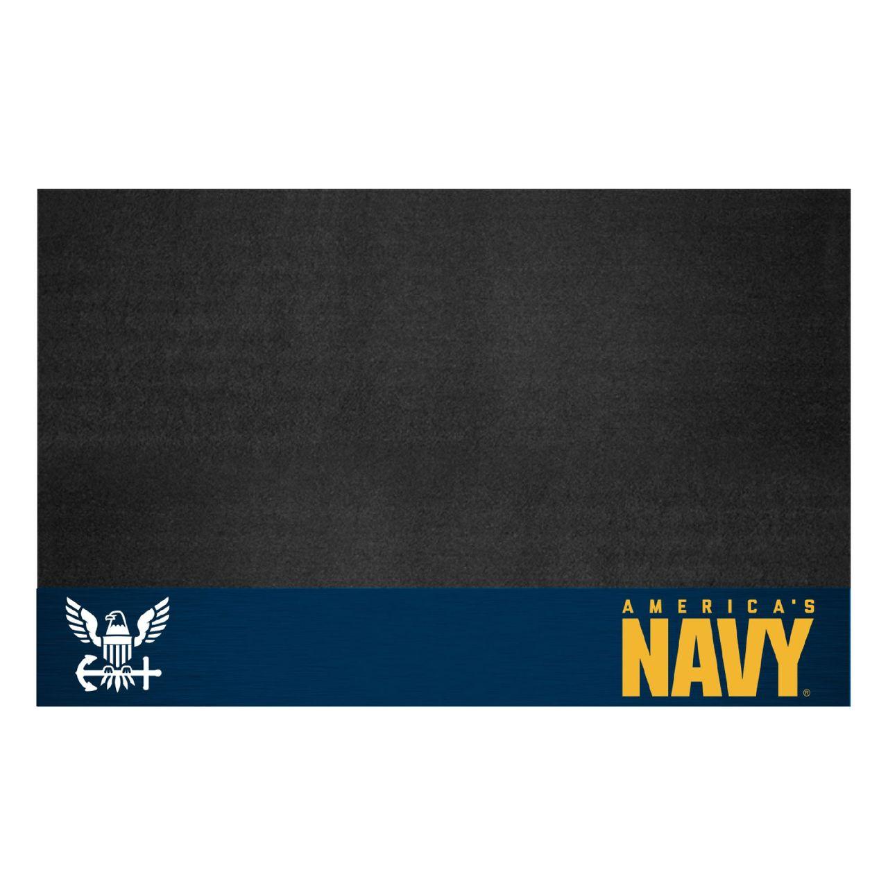 """Fanmats 15699 Navy Grill Mat 26""""x42"""""""