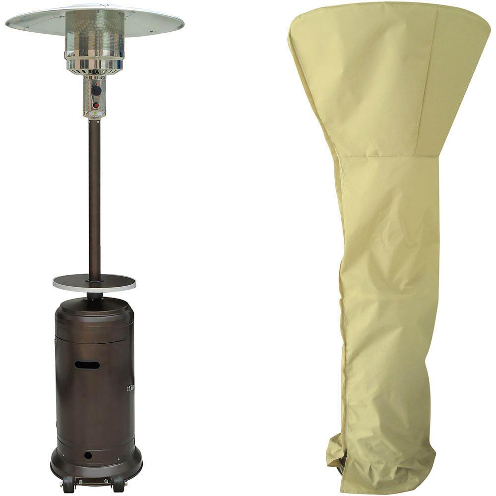 Hanover 7ft Steel Umbrella Patio Heater - Hammered Bronze/Cream