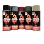 Satin Black - 1200 Deg Wood Stove High Temp Paint -