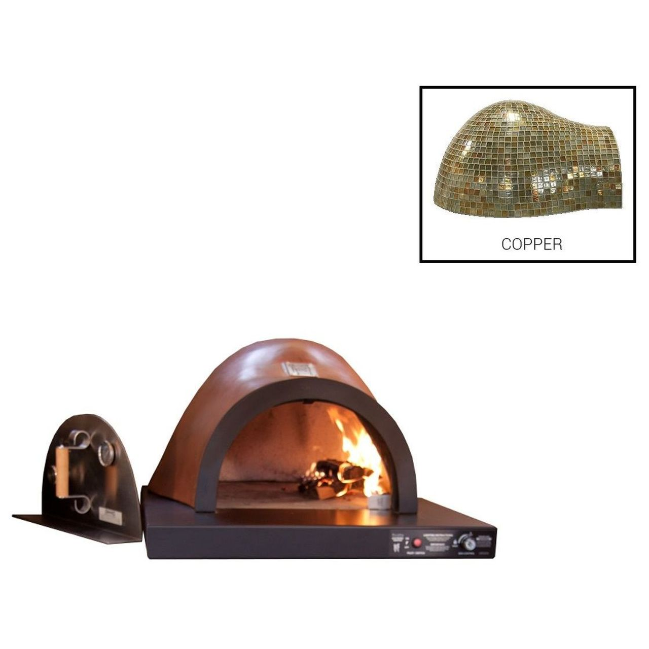 HPC Villa Hybrid Gas/Wood Oven With EI in Copper - LP