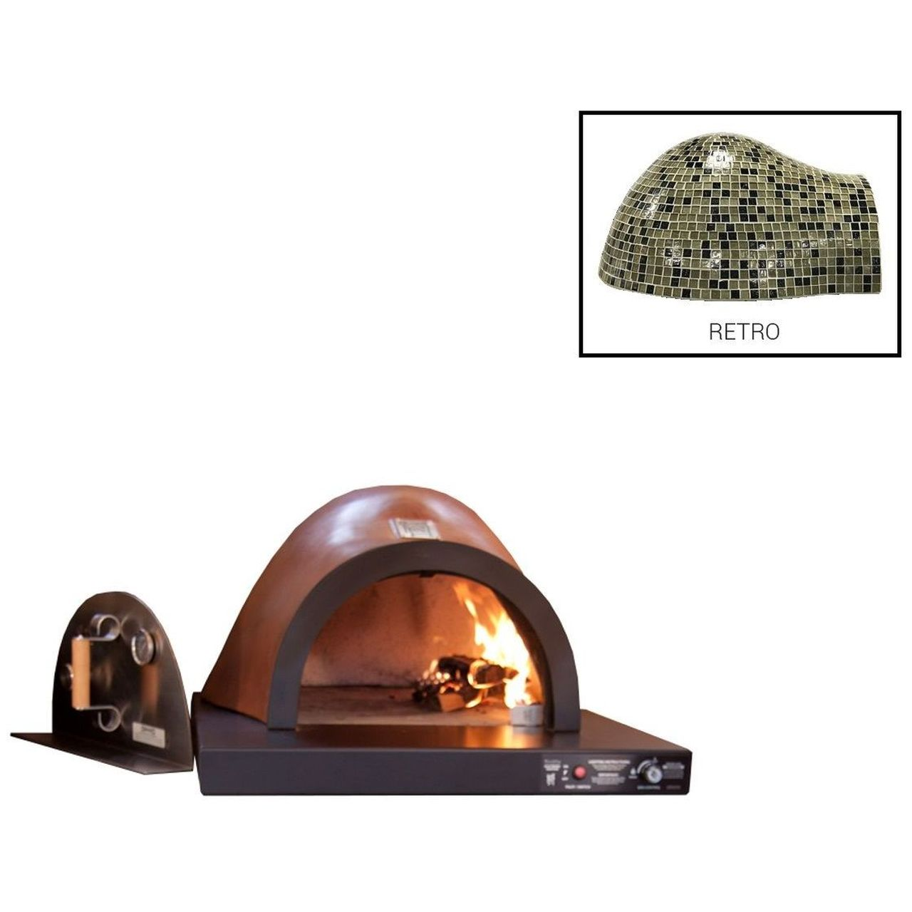 HPC Villa Hybrid Gas/Wood Oven With EI in Retro - NG