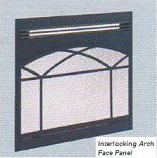 36 Interlocking Arch Decorative Front Face Panel for Elec. Fireplace