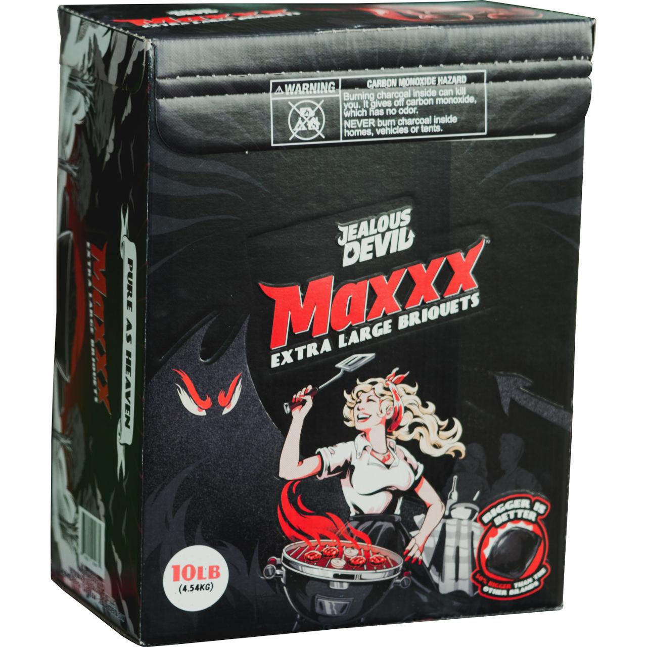 Jealous Devil MAXXX Briquet Charcoal - 10 Lbs Box