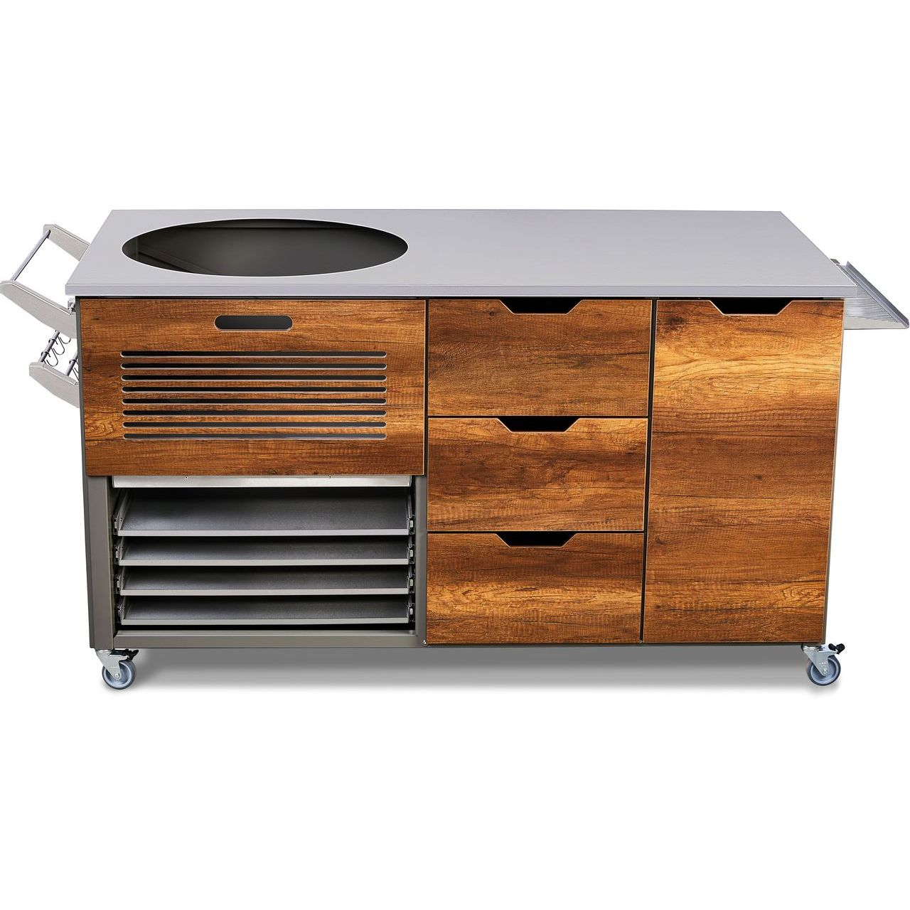 """KamadoSpace Infinite Island 22"""" With Hinges Panel in Barrique Oak"""