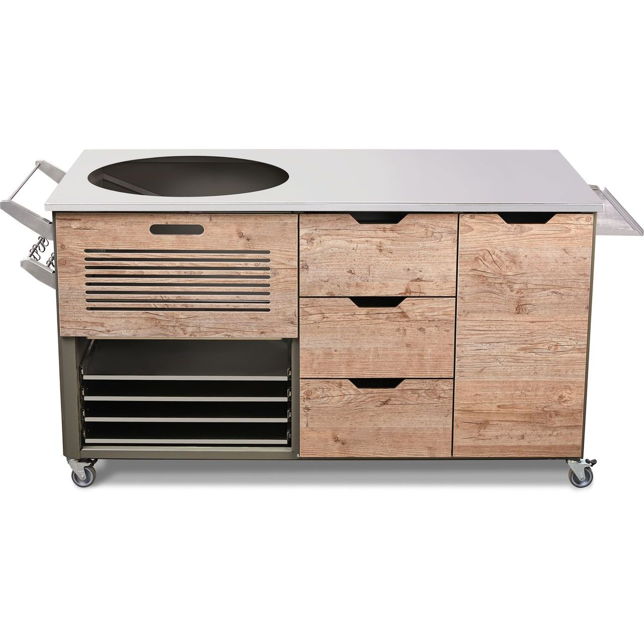 """KamadoSpace Infinite Island 22"""" With Hinges Panel in Fir Platinum"""