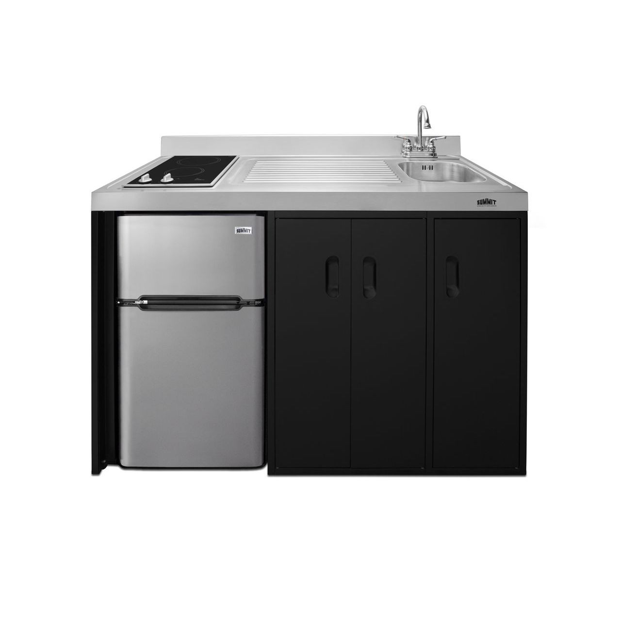 """Summit 54"""" Wide All-In-One Kitchenette - Right Refrigerated Door"""