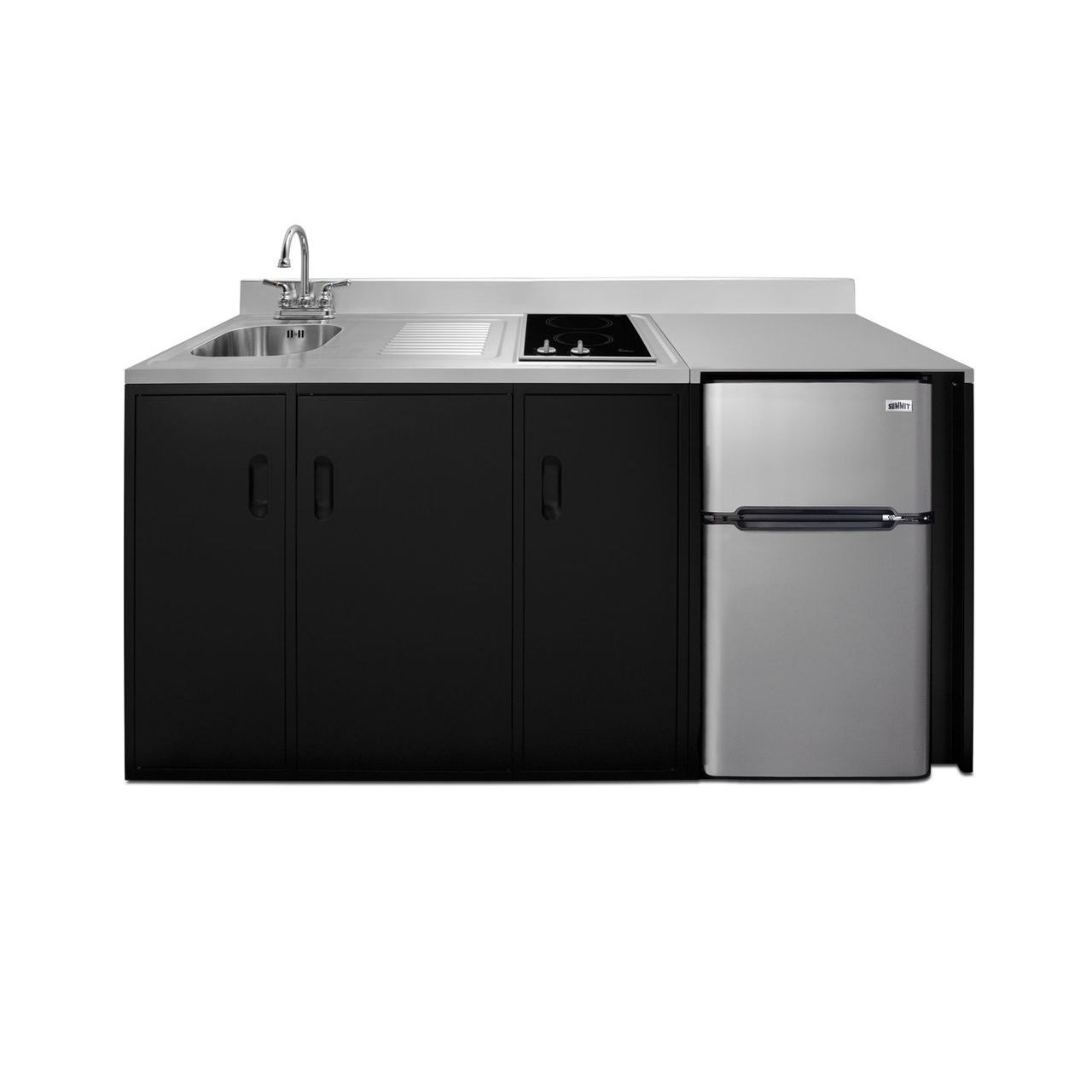 "Summit 72"" ADA Wide All-In-One Kitchenette - Left Refrigerated Door"