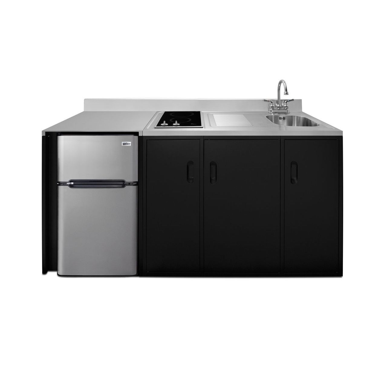 """Summit 72"""" ADA Wide All-In-One Kitchenette - Right Refrigerated Door"""