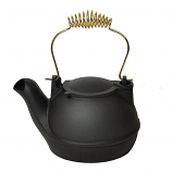 Black Cast Aluminum Half Kettle, 2Qt.
