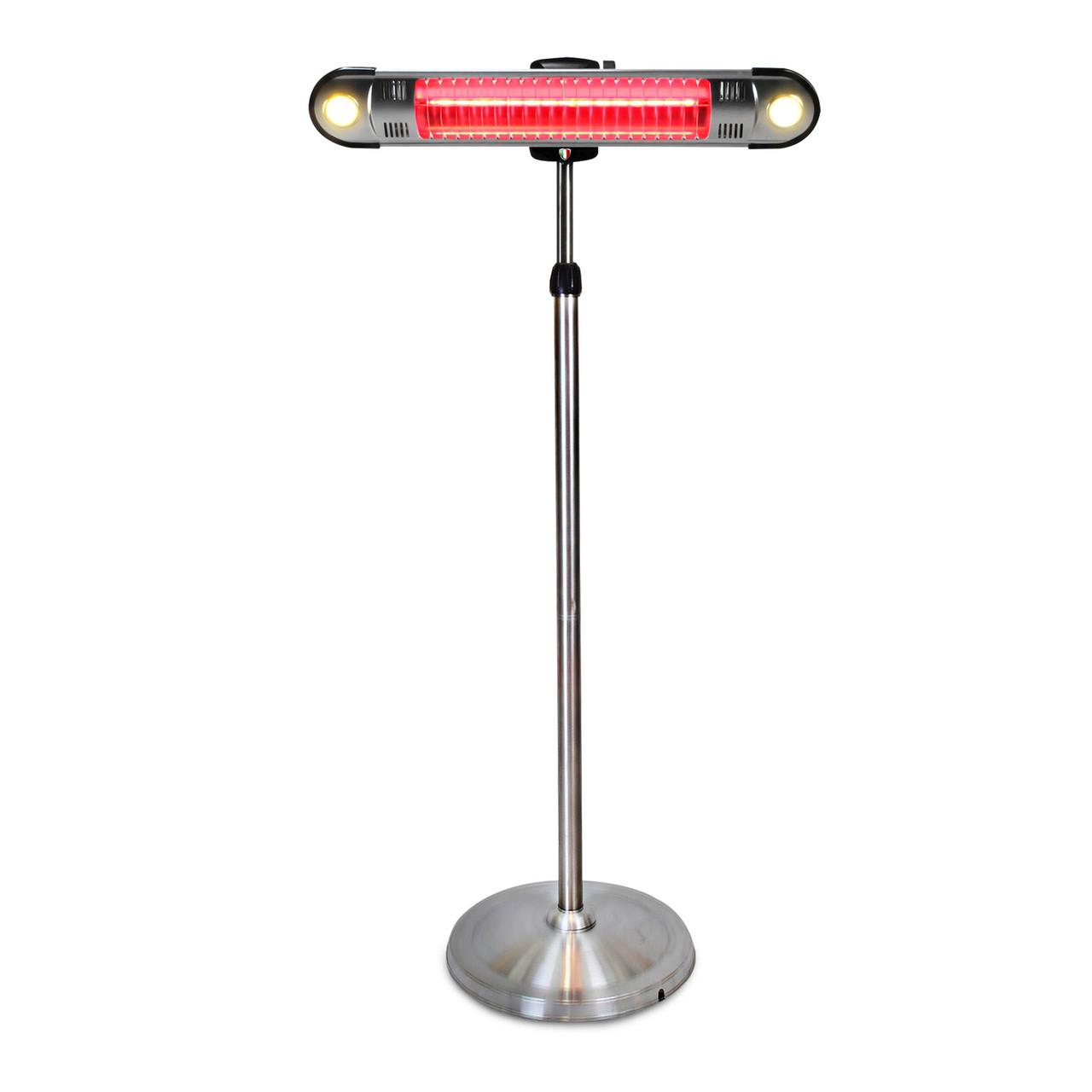 Lava Heat Electric KD WALL-E Pedestal Heater - Stainless Steel