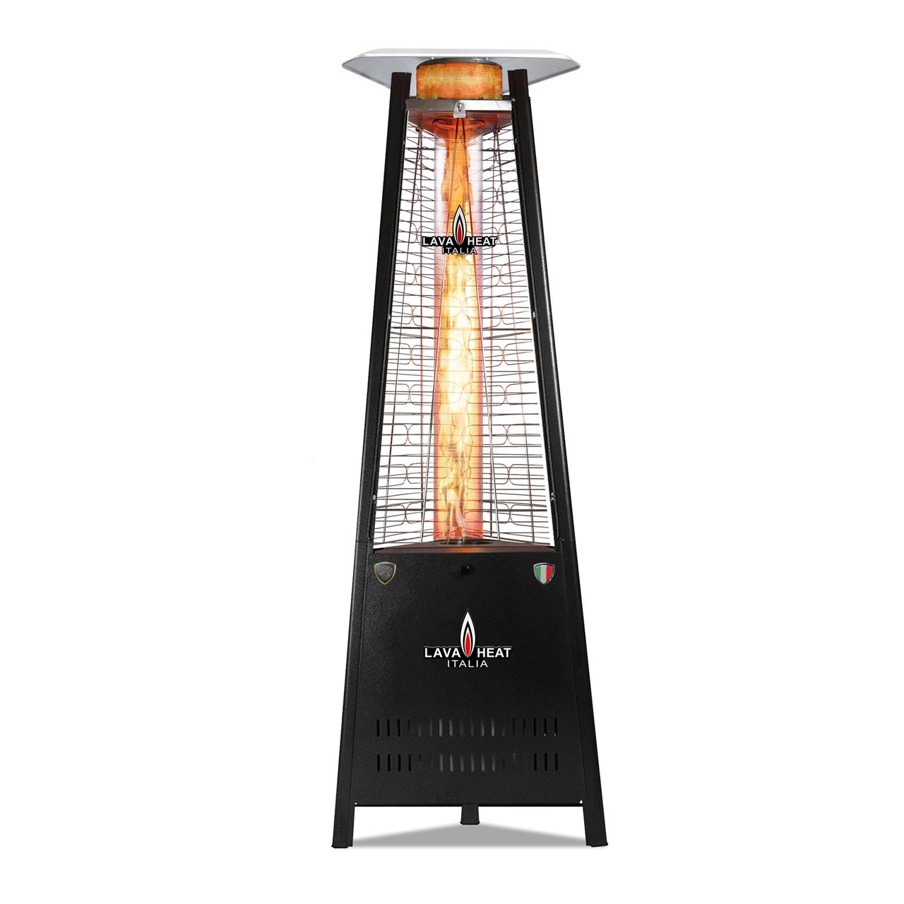 Lava Heat LP Capri KD Triangle Flame Tower Heater - Hammered Black
