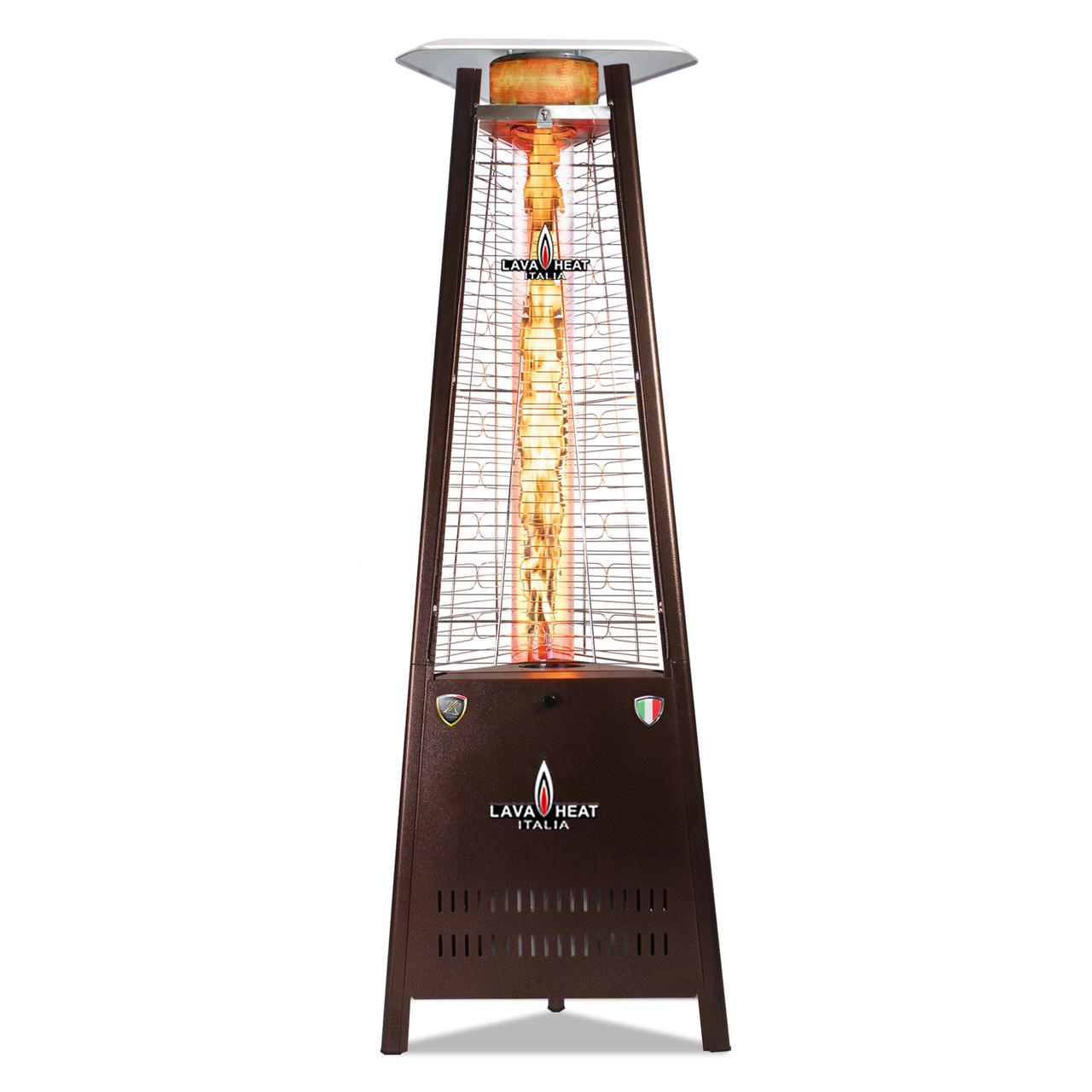 Lava Heat LP Capri Triangle Flame Tower Heater - Heritage Bronze