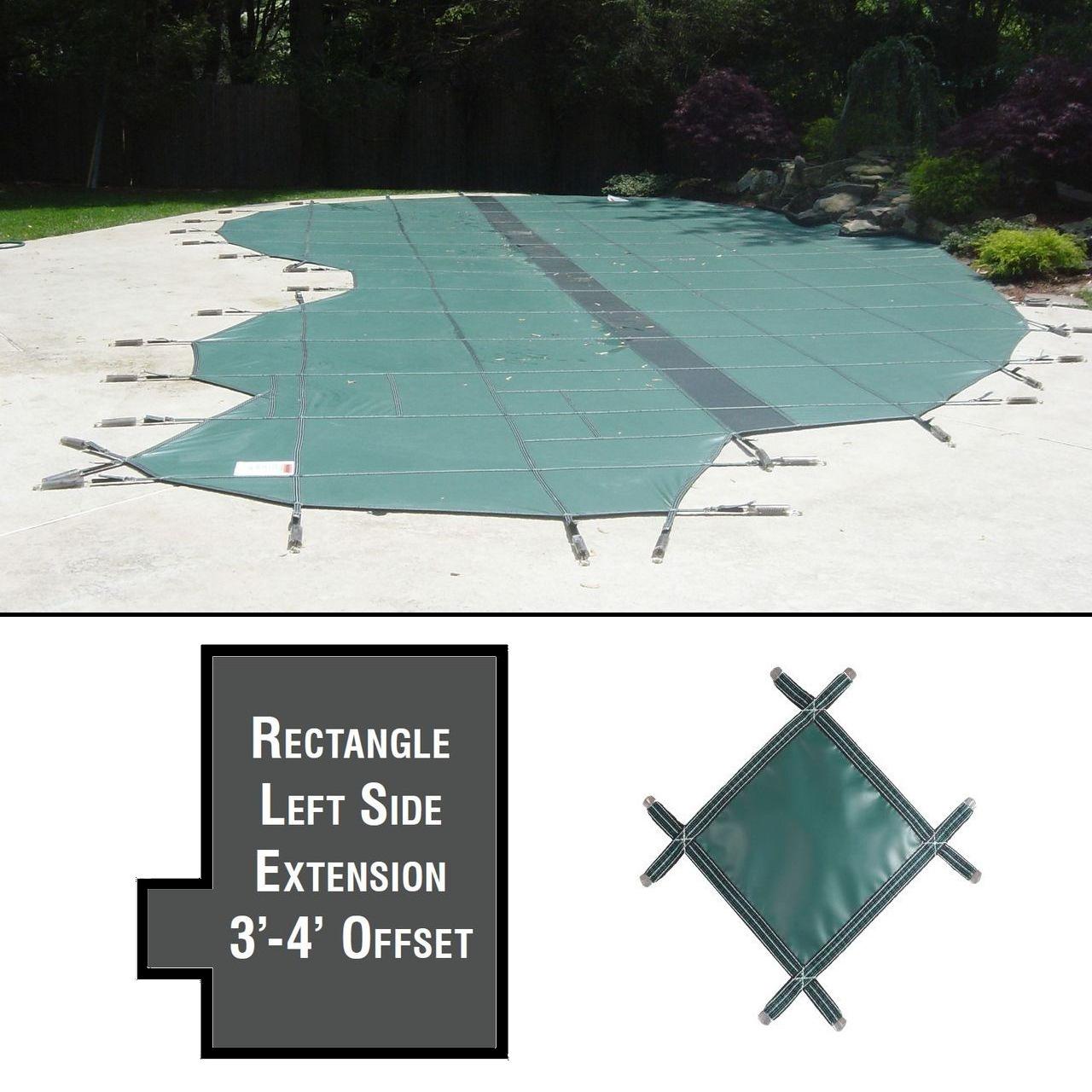 PermaGuard 22'x42' Rectangular Pool Cover Plus Left Ext 3' Offset