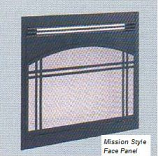 """Mission Style Decorative Front Face Panel for 36"""" Electric Fireplace"""