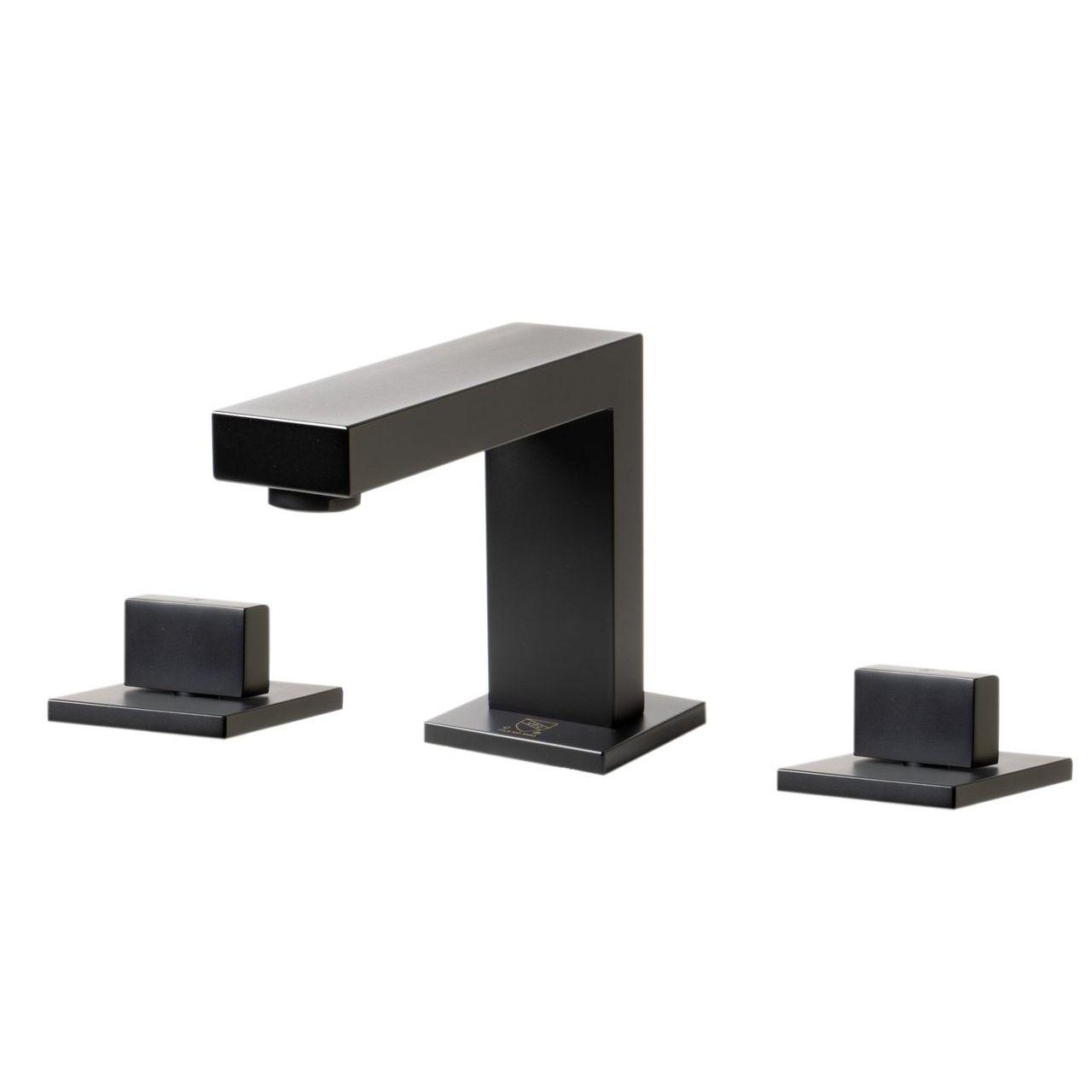 ALFI AB1322-BM Black Matte Widespread Modern Bathroom Faucet