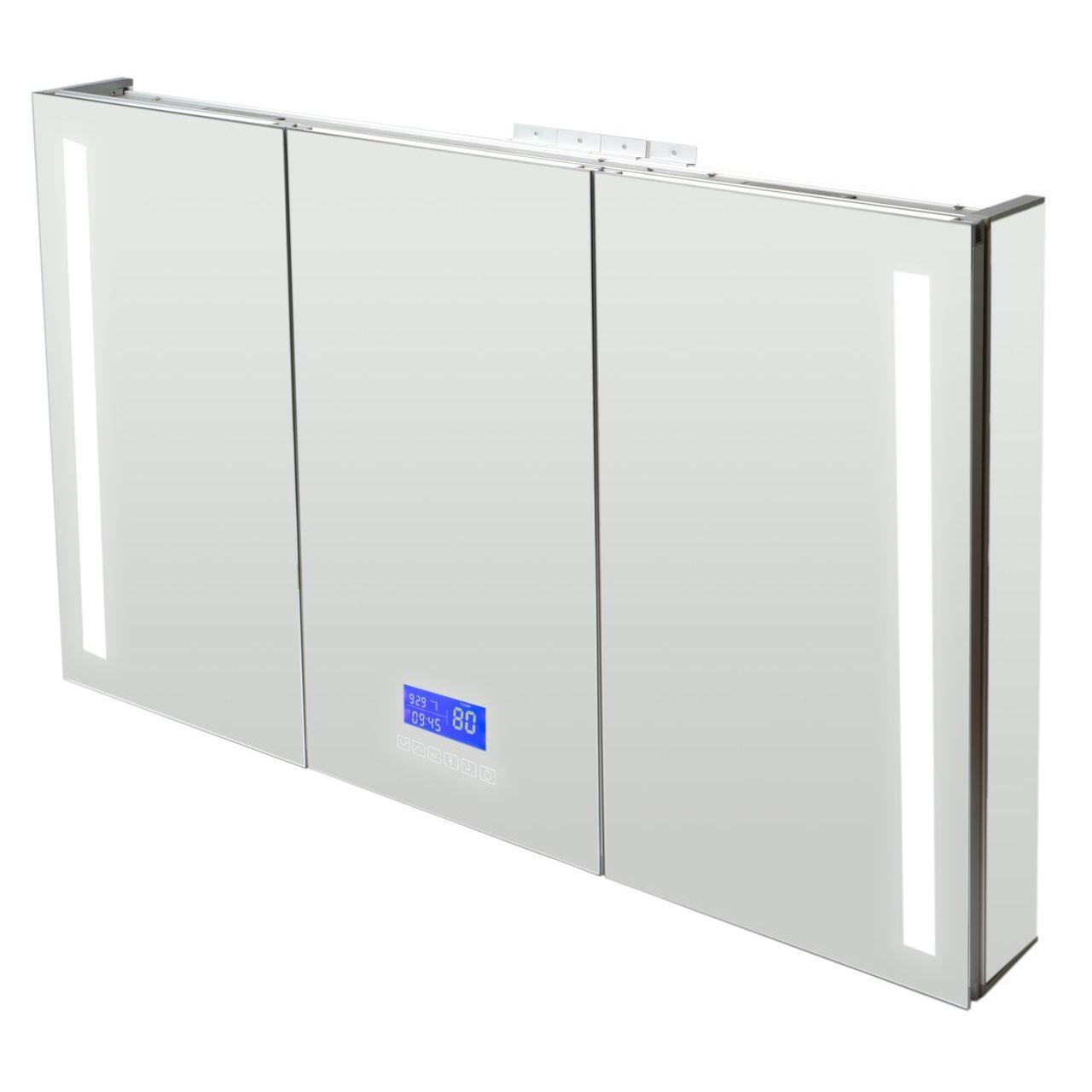 """ALFI 42""""x28"""" Triple Door LED Light Bluetooth Medicine Cabinet"""