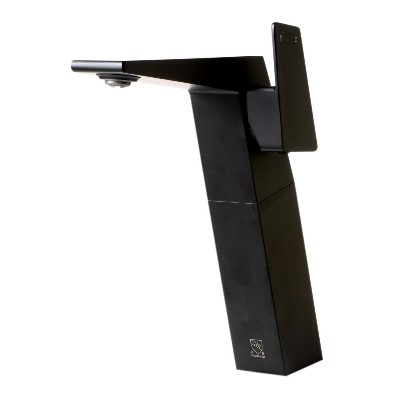ALFI Black Matte Single Hole Tall Bathroom Faucet