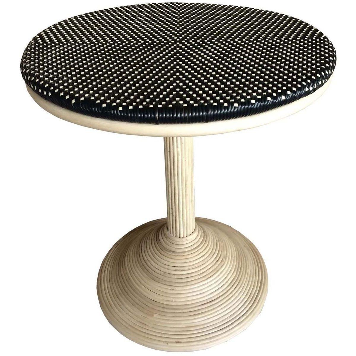 Padma French Bistro Table in Black/Beige