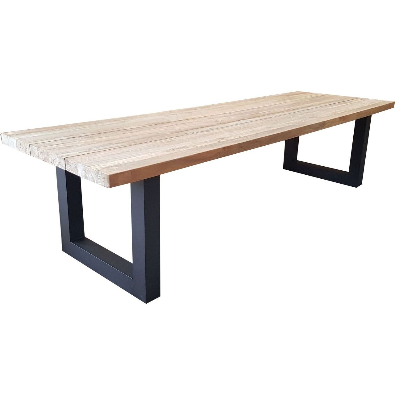 "Padma Outdoor Vittoria 98.5"" Reclaimed Teak Dining Table"