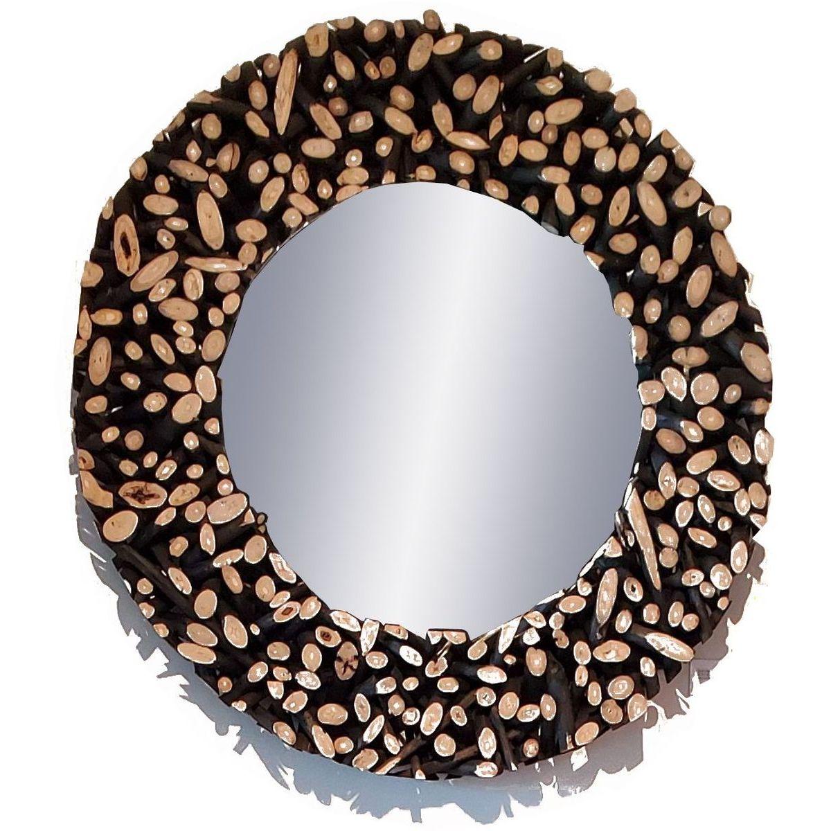 Padma Safari Round Mirror in Black