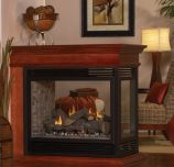 Tahoe DV Peninsula Premium 36 Fireplace with Barrier Screen, LP