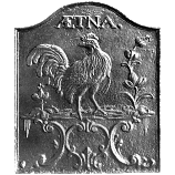"""22"""" x 26"""" Aetna Rooster Fireback"""