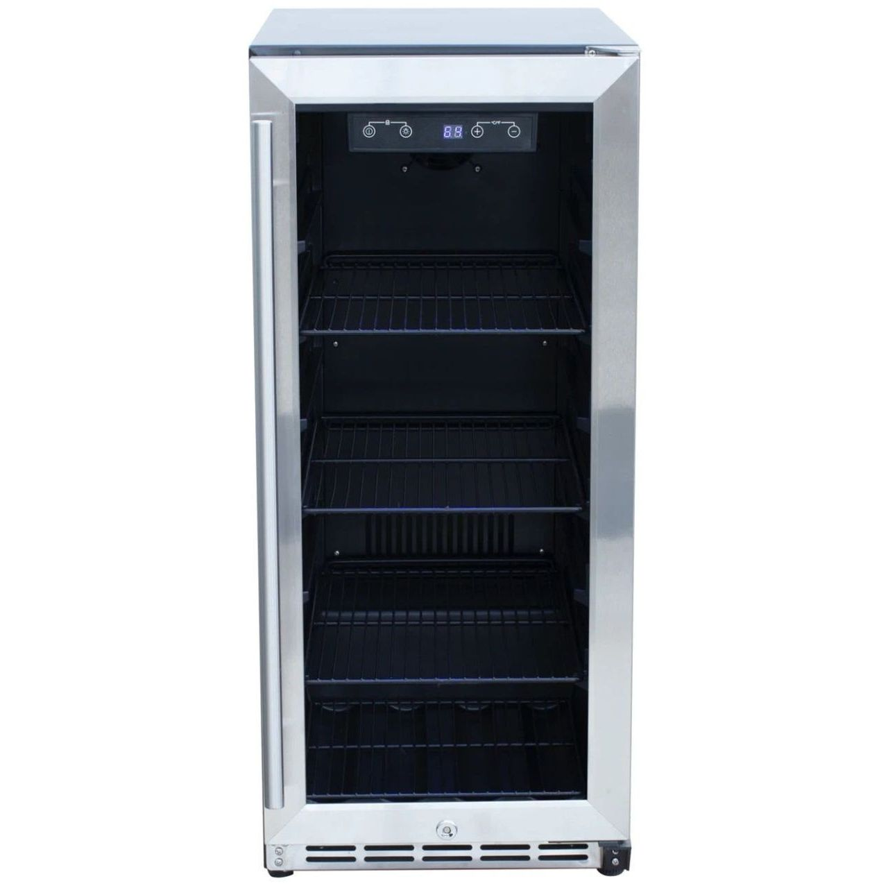 """RCS 15"""" Stainless Refrigerator With Glass Window"""
