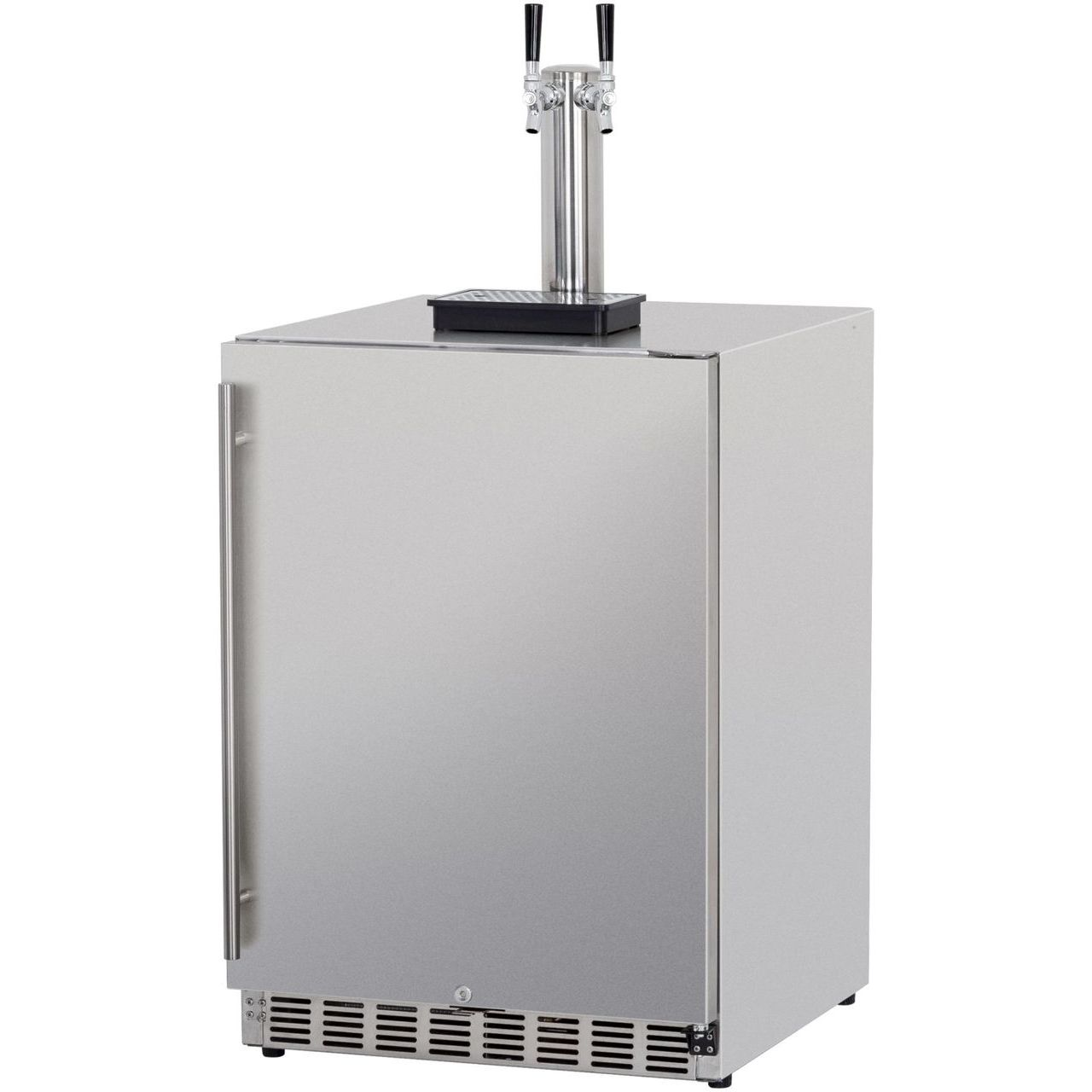 RCS Dual Tap Stainless Kegerator UL Rated For Outdoors