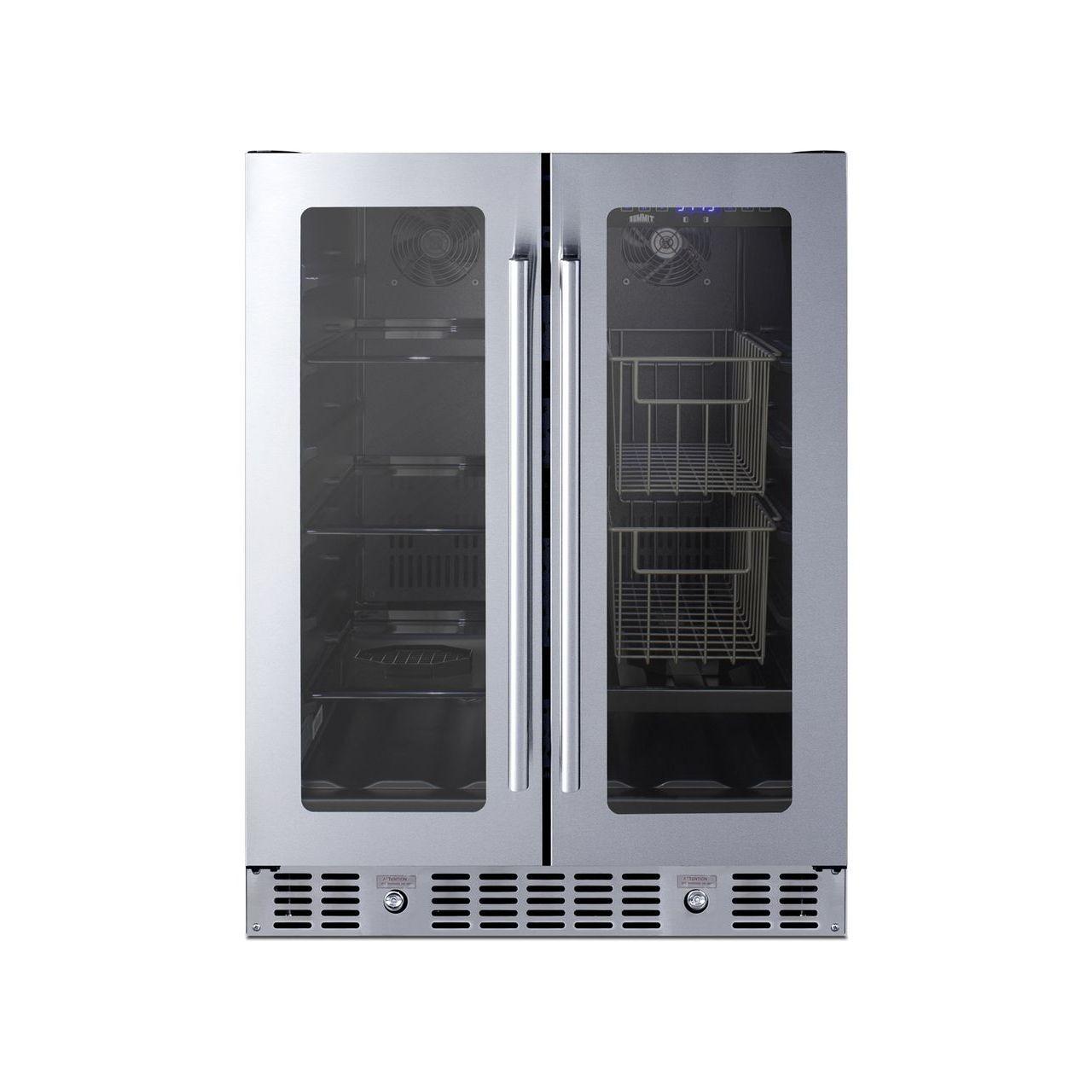 "Summit 24"" ADA Built-In Dual-Zone Refrigerator - Stainless Steel"
