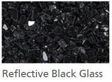 Superior CRSHGL-RBLK 5 lbs. Bag of Reflective Black Glass Media