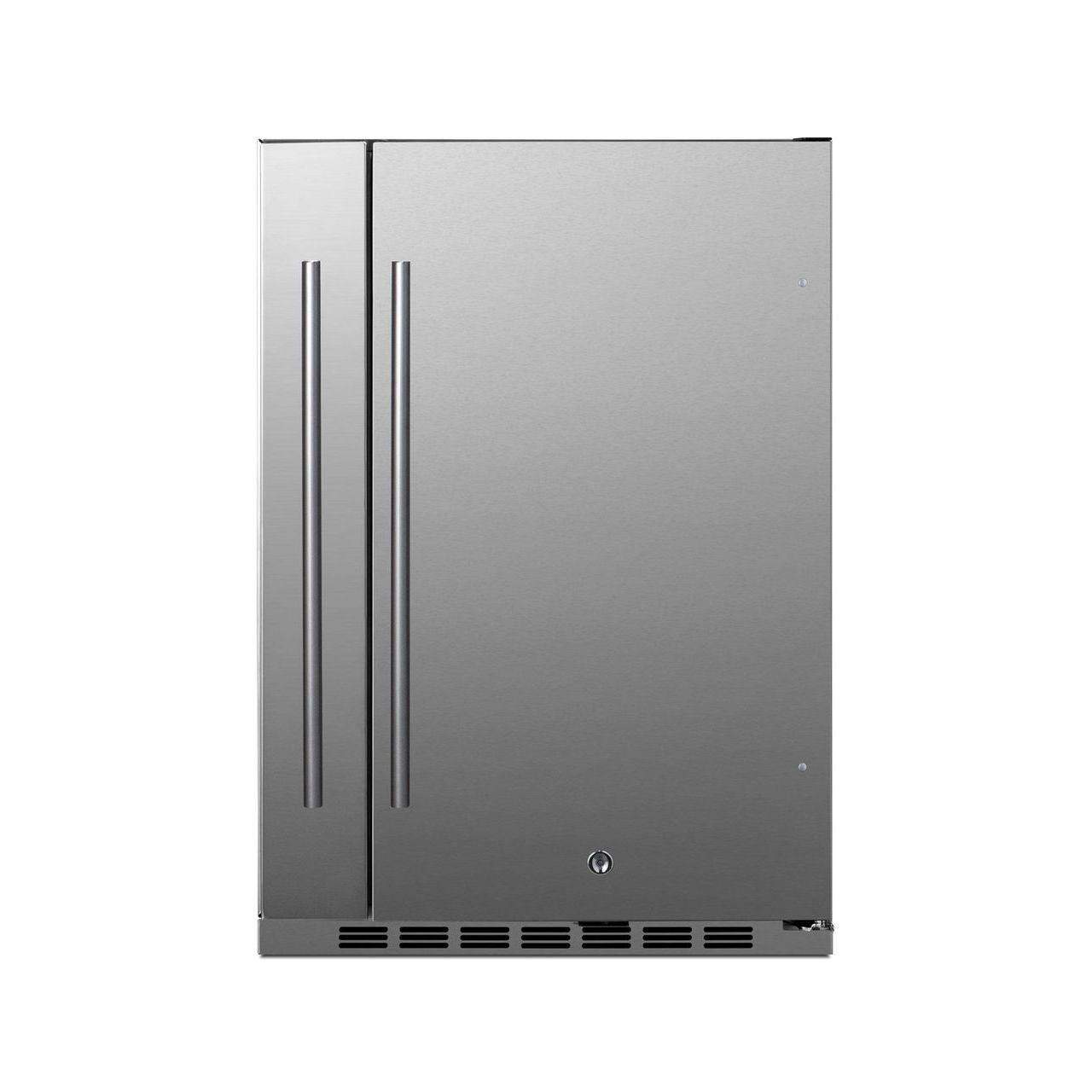 "Summit Shallow Depth 24"" Wide Built-In All-Refrigerator/Storage"